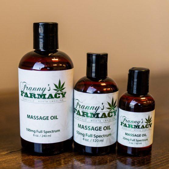 CBD Frannys Massage Oil