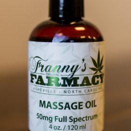 CBD Frannys Massage Oil-Front