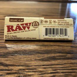 Hemp Raw Rolling Paper Back