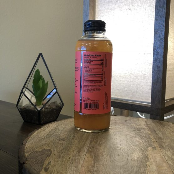 CBD Beverage Strawberry Lavender 25 mg Back