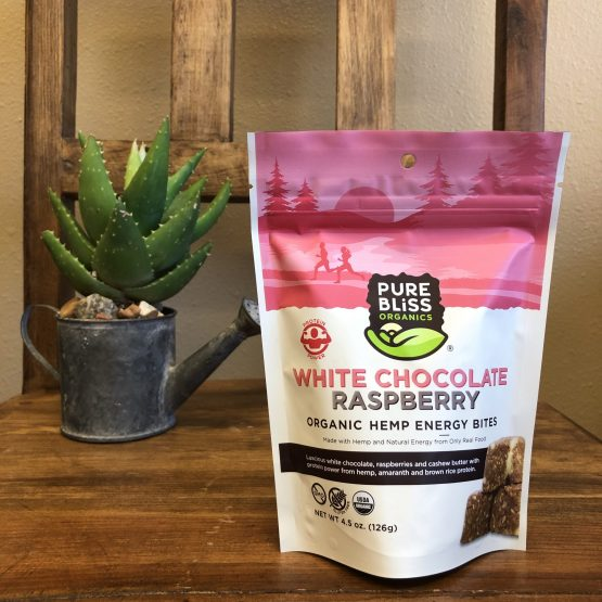 Hemp Energy Bites White Chocolate Raspberry